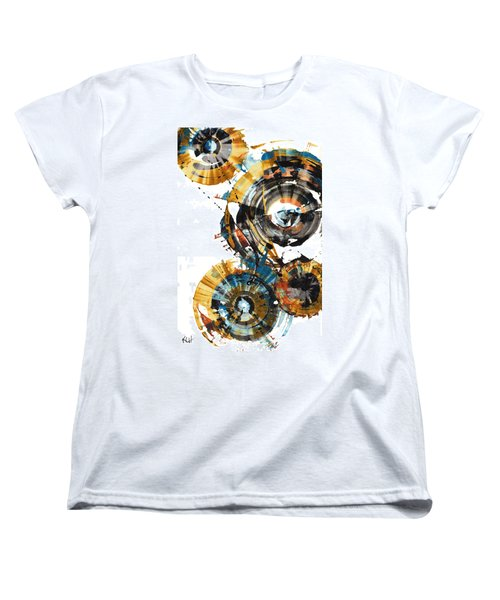 Women's T-Shirt (Standard Cut) featuring the painting Playing In The Wind 1000.042312 by Kris Haas