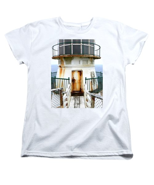 Point Reyes Historic Lighthouse Women's T-Shirt (Standard Cut) by Laurel Powell