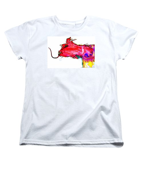 Pop Art Mousetrap Women's T-Shirt (Standard Cut) by Marianne Dow