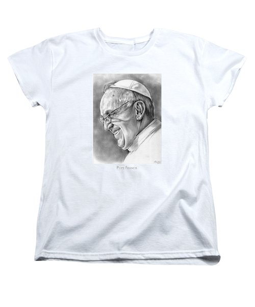 Pope Francis Women's T-Shirt (Standard Cut) by Greg Joens