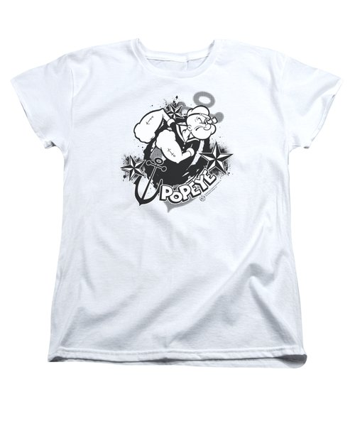 Popeye - Stars And Anchor Women's T-Shirt (Standard Cut) by Brand A