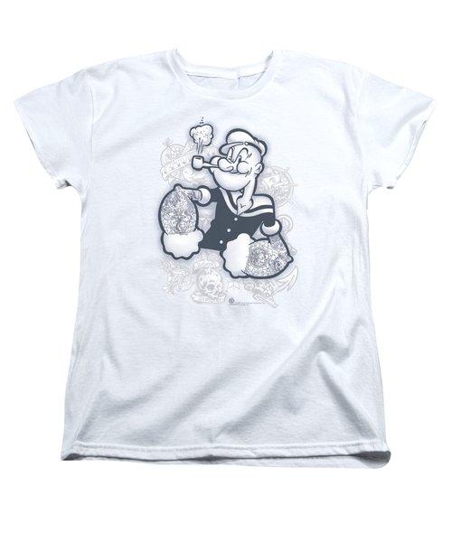 Popeye - Tattooed Women's T-Shirt (Standard Cut) by Brand A