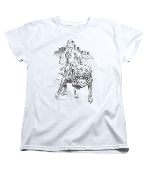 Popeye - Walking The Dog Women's T-Shirt (Standard Cut) by Brand A