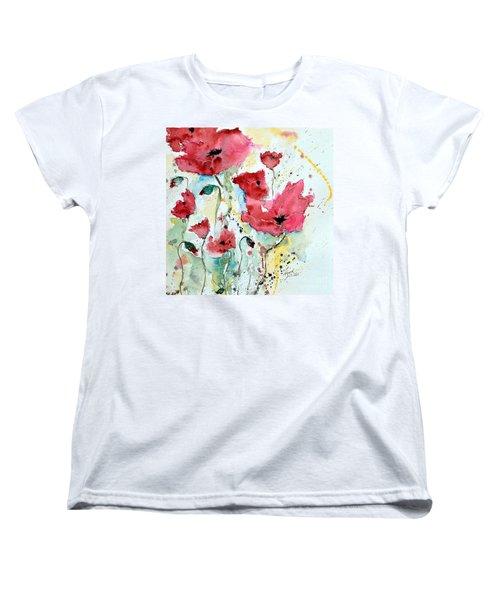 Poppies 05 Women's T-Shirt (Standard Cut) by Ismeta Gruenwald