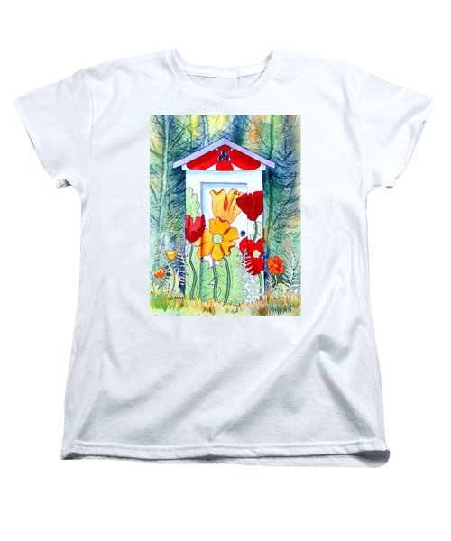 Poppy Potty Women's T-Shirt (Standard Cut) by Teresa Ascone
