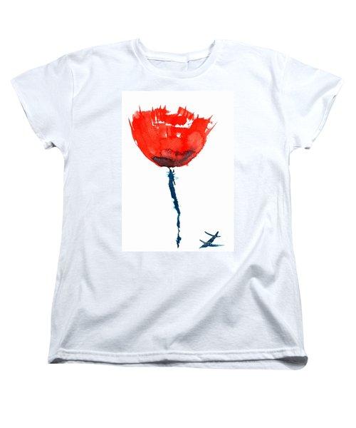 Poppy Women's T-Shirt (Standard Cut) by Zaira Dzhaubaeva