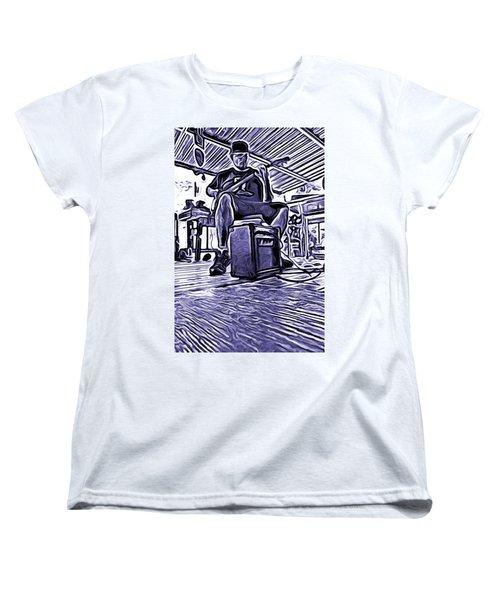 Women's T-Shirt (Standard Cut) featuring the photograph Porch Pickin by Bartz Johnson