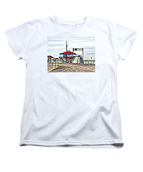 Women's T-Shirt (Standard Cut) featuring the photograph Port Aransas Gulf Side by Antonia Citrino