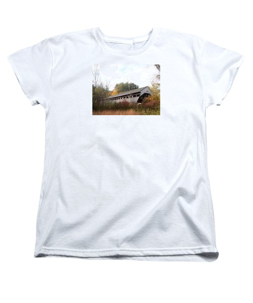 Porter Covered Bridge Women's T-Shirt (Standard Cut) by Catherine Gagne