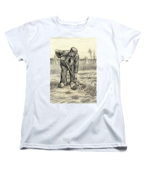 Potato Gatherer Women's T-Shirt (Standard Cut) by Vincent Van Gogh