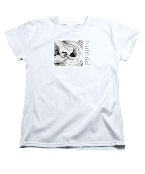 Women's T-Shirt (Standard Cut) featuring the drawing Potter And Clay by Janet King