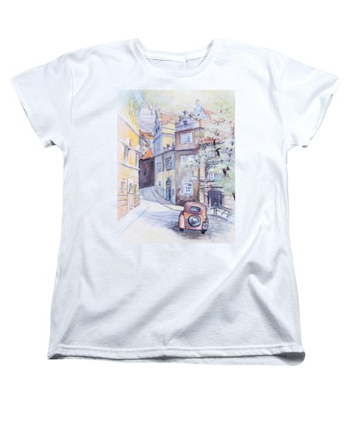 Prague Golden Well Lane Women's T-Shirt (Standard Cut)