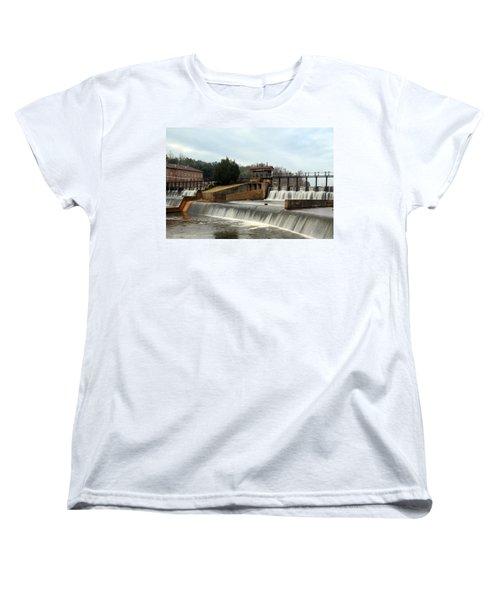 Prattville Dam Prattville Alabama Women's T-Shirt (Standard Cut) by Charles Beeler