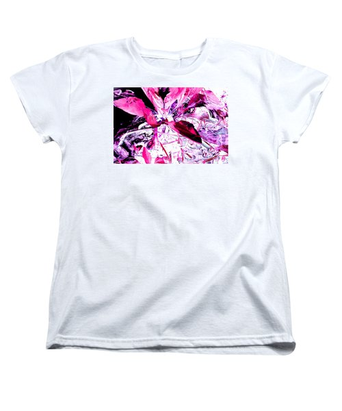 Pretty Pink Weeds 5 Women's T-Shirt (Standard Cut) by Marianne Dow