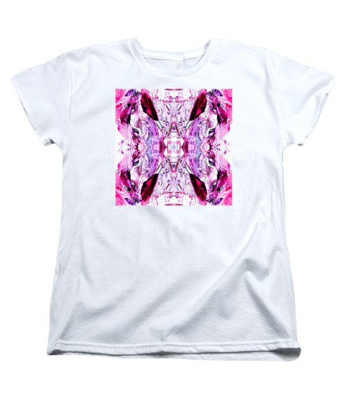 Pretty Pink Weeds Abstract  2 Women's T-Shirt (Standard Cut) by Marianne Dow