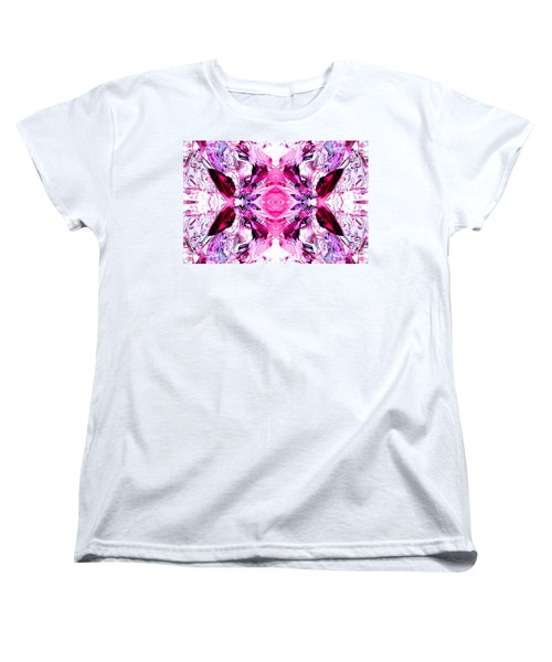 Pretty Pink Weeds Abstract  3 Women's T-Shirt (Standard Cut) by Marianne Dow