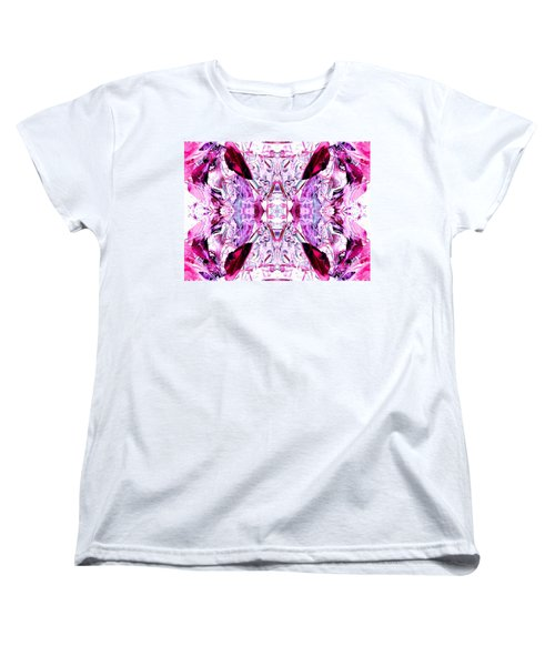 Pretty Pink Weeds Abstract  4 Women's T-Shirt (Standard Cut) by Marianne Dow