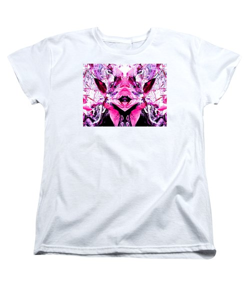 Pretty Pink Weeds Abstract  5 Women's T-Shirt (Standard Cut) by Marianne Dow
