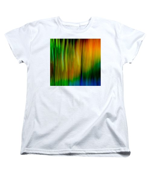 Women's T-Shirt (Standard Cut) featuring the photograph Primary Rainbow by Darryl Dalton