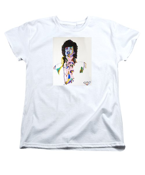 Women's T-Shirt (Standard Cut) featuring the painting Prince Purple Reign by Stormm Bradshaw