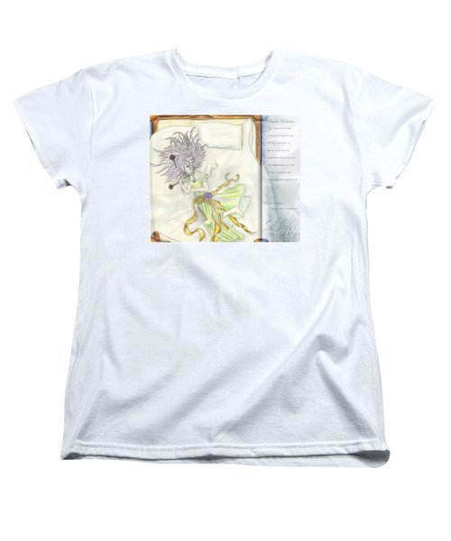 Women's T-Shirt (Standard Cut) featuring the painting Princess Altiana Aka Rokeisha by Shawn Dall