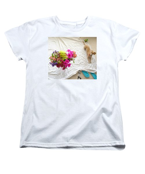Women's T-Shirt (Standard Cut) featuring the photograph Princess On Assignment by Angela J Wright