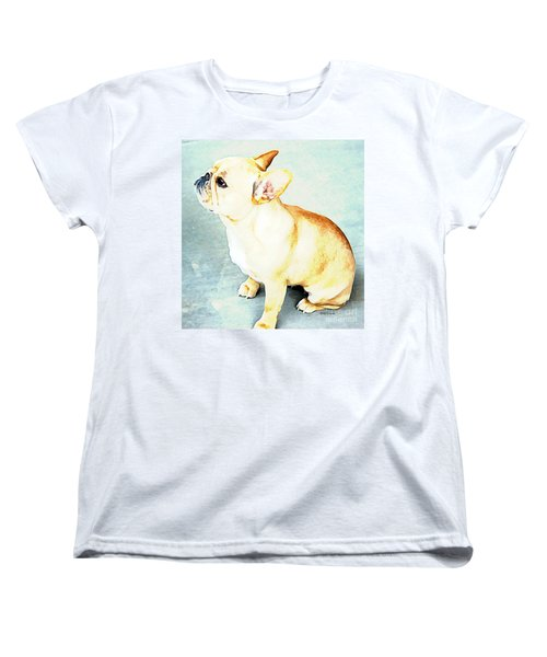 Profile In Frenchie Women's T-Shirt (Standard Cut) by Barbara Chichester