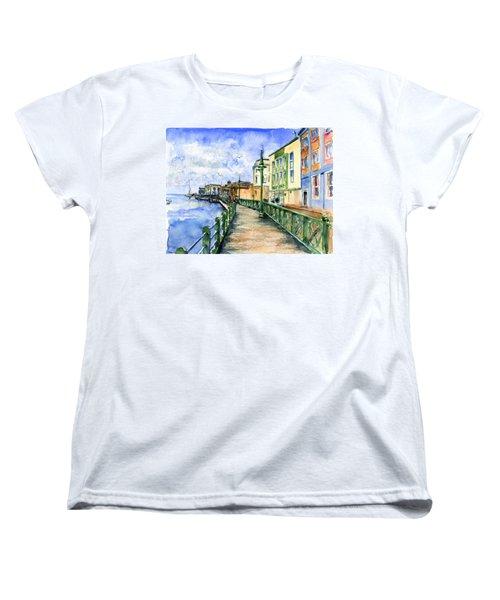 Promenade In Barbados Women's T-Shirt (Standard Cut) by John D Benson