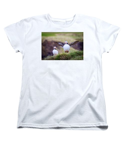 Proud Puffin Women's T-Shirt (Standard Cut) by Peta Thames