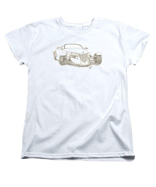 Prowler Sketch Women's T-Shirt (Standard Cut) by Chris Thomas
