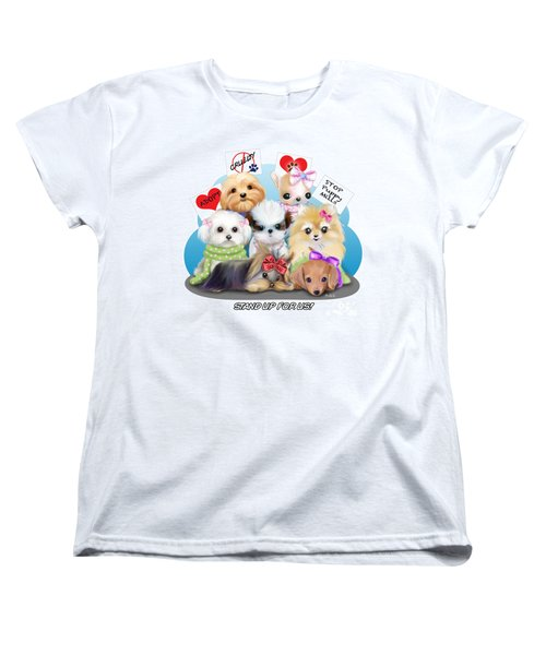 Puppies Manifesto Women's T-Shirt (Standard Cut) by Catia Cho