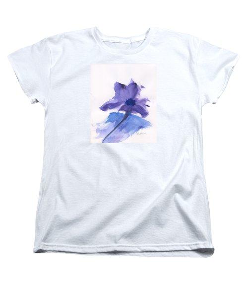 Purple Flower Women's T-Shirt (Standard Cut) by Frank Bright