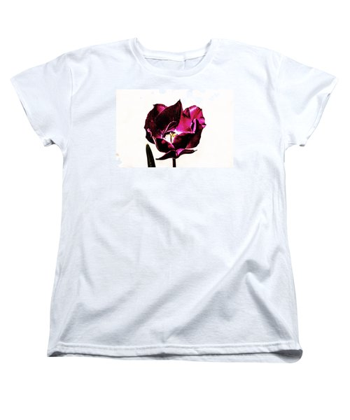 Purple Tulip Women's T-Shirt (Standard Cut) by Angela DeFrias