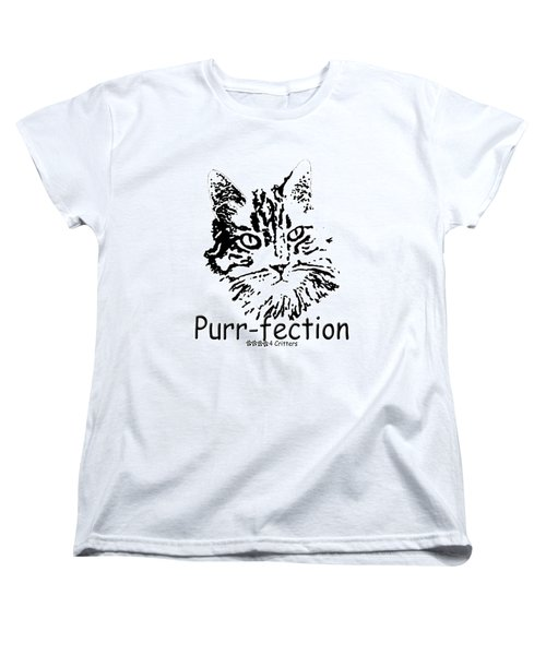 Purr-fection Women's T-Shirt (Standard Cut) by Robyn Stacey