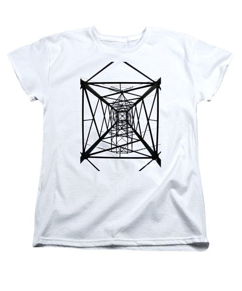 Women's T-Shirt (Standard Cut) featuring the photograph Pylon by Nina Ficur Feenan