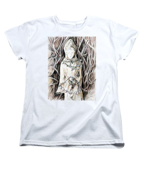 Quan Yin The Guide Through Entangled World Women's T-Shirt (Standard Cut) by Danuta Bennett