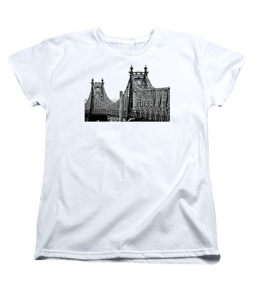 Queensborough Or 59th Street Bridge Women's T-Shirt (Standard Cut) by Steve Archbold