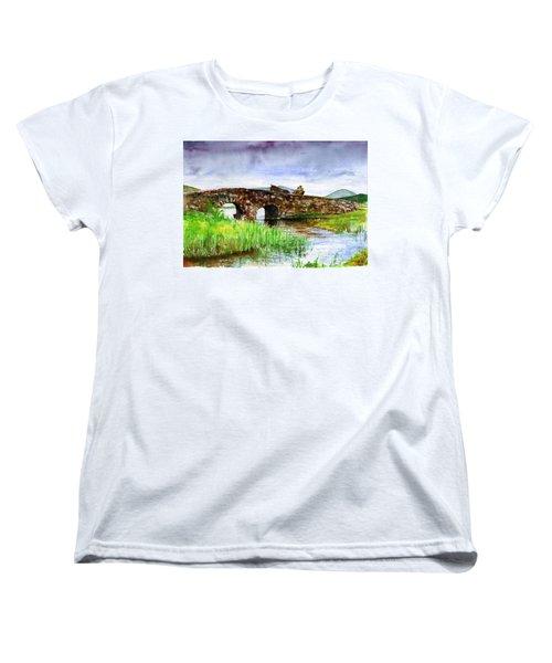 Quiet Man Bridge Ireland Women's T-Shirt (Standard Cut) by John D Benson