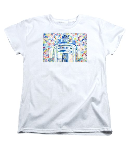 R2-d2 Watercolor Portrait.1 Women's T-Shirt (Standard Cut)