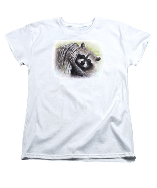 Raccoon  Women's T-Shirt (Standard Cut) by Patricia Lintner