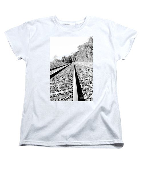 Women's T-Shirt (Standard Cut) featuring the photograph Railroad Track by Joe  Ng