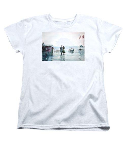 Women's T-Shirt (Standard Cut) featuring the painting Rain Serenad - Moments Of Life... by Faruk Koksal