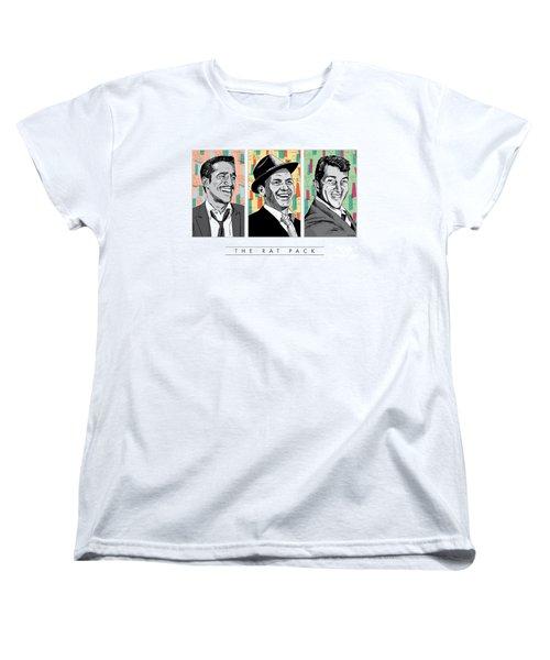 Rat Pack Pop Art Women's T-Shirt (Standard Cut) by Jim Zahniser
