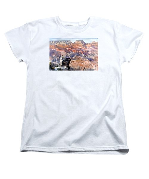 Women's T-Shirt (Standard Cut) featuring the painting Ravens by Donald Maier