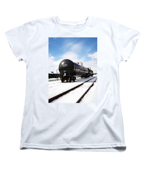 Women's T-Shirt (Standard Cut) featuring the photograph Ready To Go by Sara  Raber