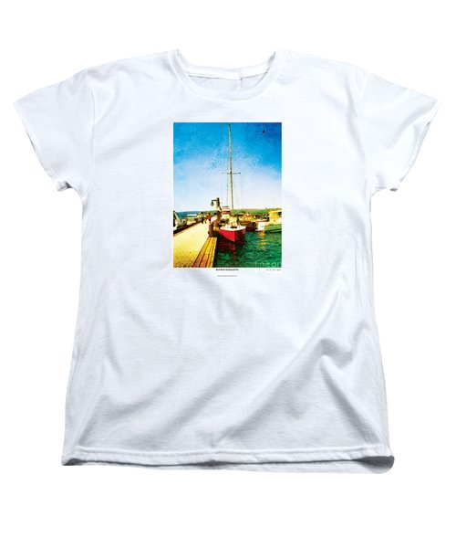 Women's T-Shirt (Standard Cut) featuring the photograph Red Boat by Kenneth De Tore