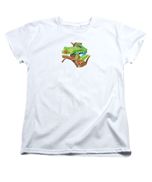 Red-eyed Treefrog Women's T-Shirt (Standard Cut) by Cindy Hitchcock
