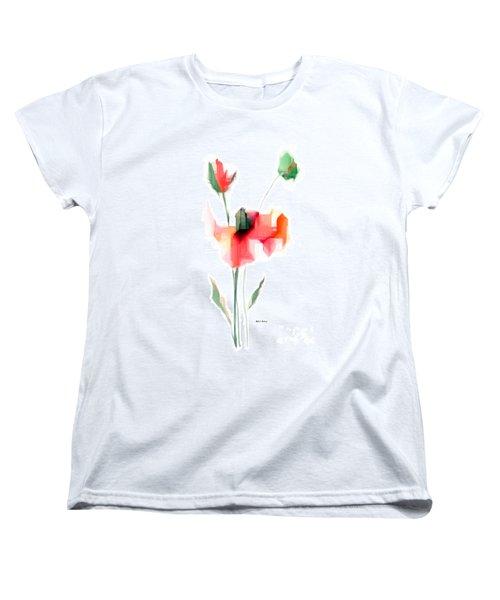 Red Flowers Women's T-Shirt (Standard Cut) by Rafael Salazar