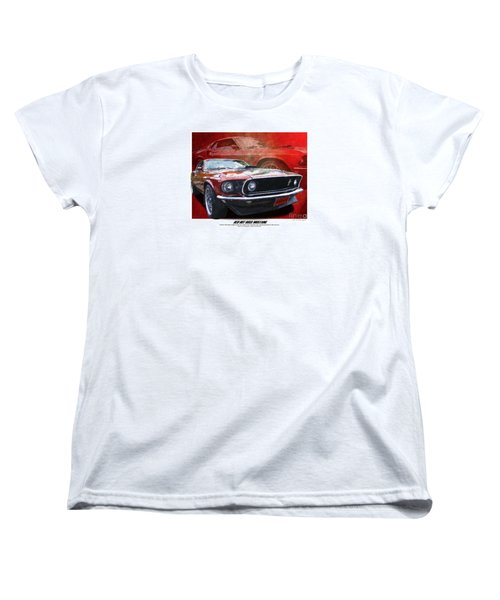 Women's T-Shirt (Standard Cut) featuring the photograph  Boss Mustang by Kenneth De Tore