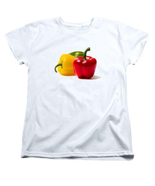 Red Sweet Pepper - Square Women's T-Shirt (Standard Cut) by Alexander Senin